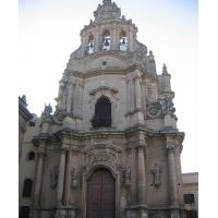 The decorative Baroque façade of S.Giuseppe church in Ragusa Ibla.
