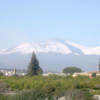 Mount Etna seen from Acireale