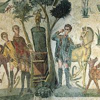 Roman mosaics in the Villa Romana del Casale