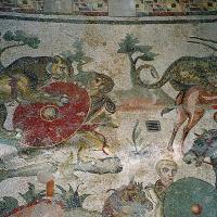 Roman mosaics in the Villa Romana del Casale