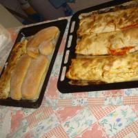 Oven fresh ricotta and tomato traditional sicilian facaccia's