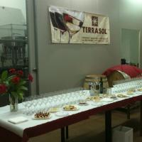 table is ready for wine tasting