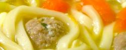 Badduzzi soup (Mini meat balls soup).
